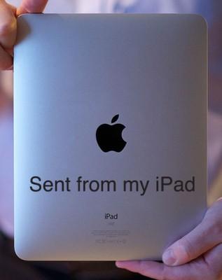 """""""Vielen Dank – Von meinem iPad gesendet"""""""