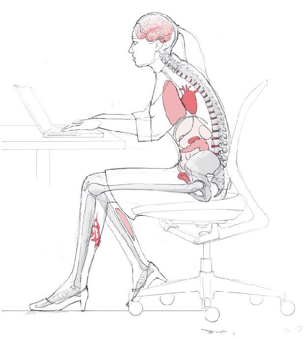 Thrombosegefahr: langes Sitzen im Buero, neue Broschuere