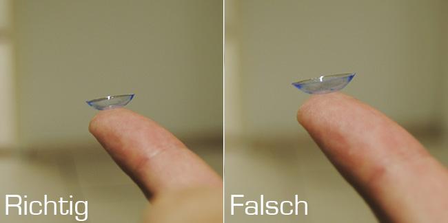 Wie kann ich Kontaktlinsen richtig einsetzen?